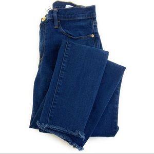 Frame Le Skinny de Jeanne Raw Hem Split Cuff Jeans